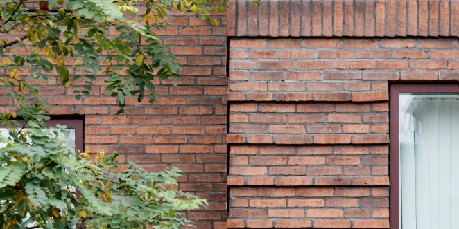 Apartment building, Jernstoeberigrunden in Odense, Facing Bricks W 447 Flint and W 479 Sand